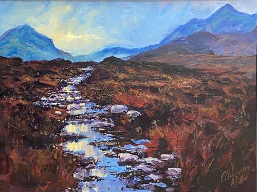Rannoch Moor is an original oil painting by Scottish artist Alexander Millar.