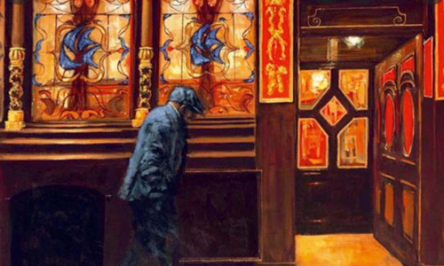 Home From Home is a rare, signed, limited edition print based on the original oil painting by Alexander Millar.