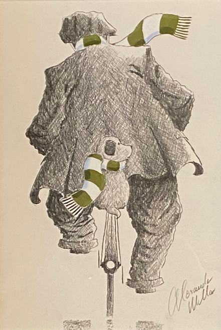 We're off to see the Hoops is an original drawing by Alexander Millar.