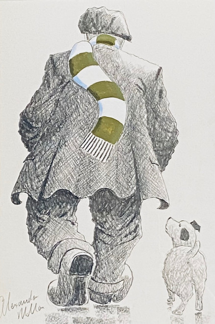 Heading Home From Parkhead is an original drawing by Alexander Millar.