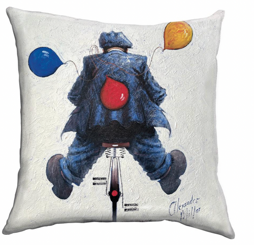 """The """"Happy Days"""" cushion is based on the original oil painting of the same name by Alexander Millar."""