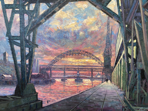 It Was A Big River is a signed, limited edition print of the original oil painting by Alexander Millar.