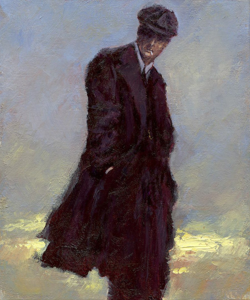 The Thin White Duke is a framed, original oil painting by Alexander Millar based on one of his musical heroes - David Bowie.
