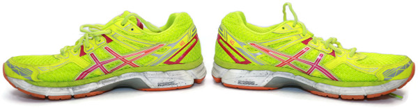 Women's Asics Running Shoes Yellow/Pink T3P8N Sz 9