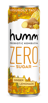Humm Probiotic Kombucha Ginger Lemonade Can