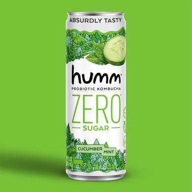 Humm Kombucha Zero Sugar Cucumber Mint Image