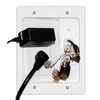 LeGrand Flat Panel TV Power Extender Kit - White