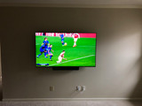 Super flat TV installation