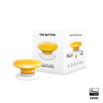 Fibaro Z-Wave Button Yellow