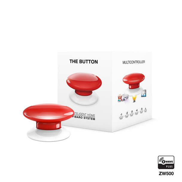 Fibaro Z-Wave Button Red