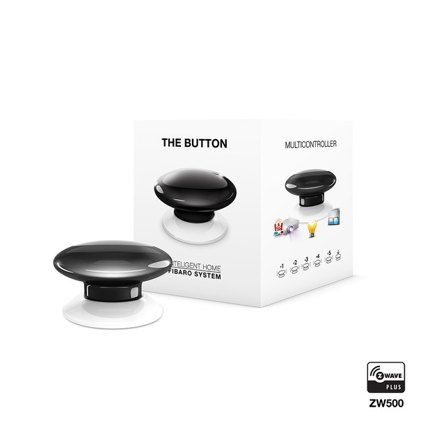 Fibaro Z-Wave Button Black