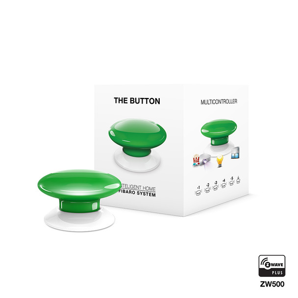Fibaro Z-Wave Button Green