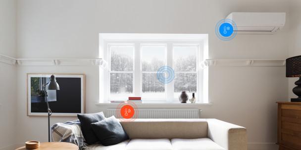 FIBARO Z-Wave Plus Door/Window & Temperature Sensor, Gen5 908.4 Mhz USA (White)
