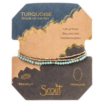 Delicate Wrap Bracelet - Turquoise/Gold