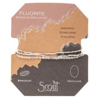 Delicate Wrap Bracelet - Fluorite