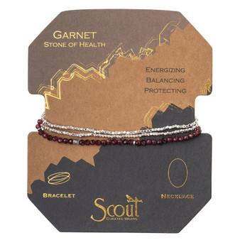 Delicate Wrap Bracelet - Garnet