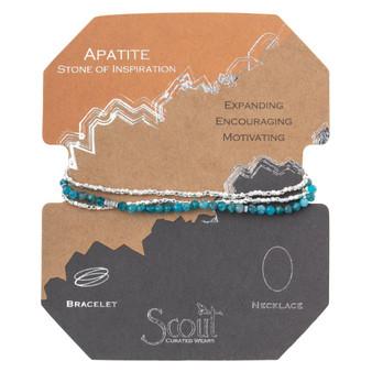 Delicate Wrap Bracelet - Apatite