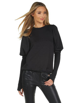 Clooney Puff Sleeve Pullover
