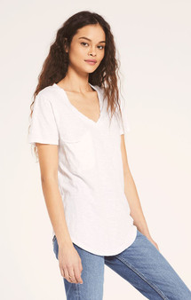 Cotton Slub Pocket Tee - White