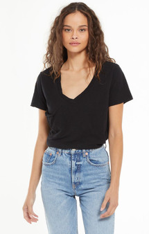 Cotton Slub Pocket Tee - Black