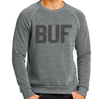 BUF Fleece Crew Sweatshirt - Heather Grey/Black