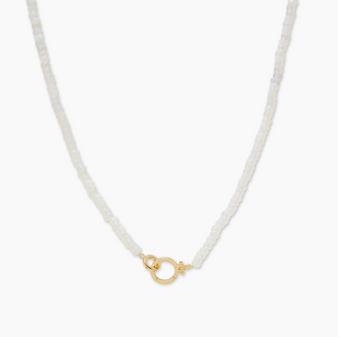 Parker Gem Necklace - Opalite