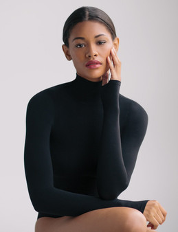 Ballet Turtleneck Bodysuit W/Thumbholes