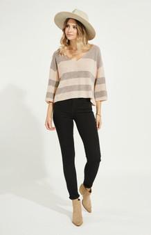 Nino Pullover - Heather Oatmeal Stripe