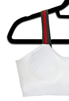 G Stripe - White Bra