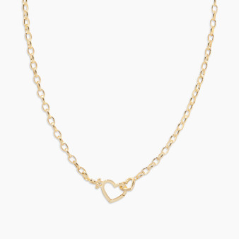 Parker Heart Necklace - Gold