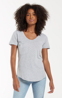 The Pocket Tee - H. Grey Burnout