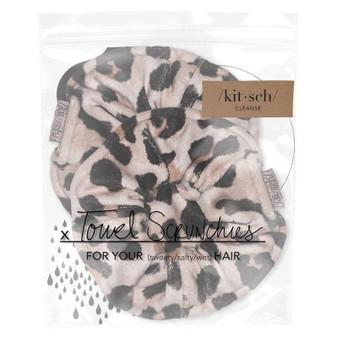 Microfiber Towel Scrunchies - Leopard