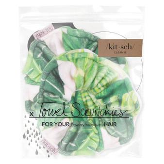 Microfiber Towel Scrunchies - Palm Print
