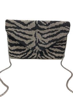 Beaded Clutch - Zebra Print