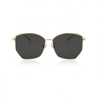 Havana Metal Frame Sunglasses