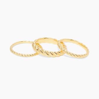 Crew Ring Set - Gold