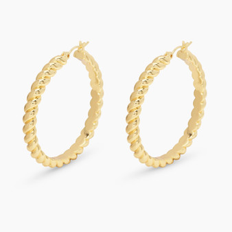 Crew Statement Hoops - Gold