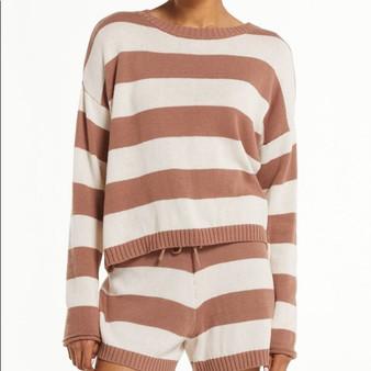 Terrace Stripe Sweater Short