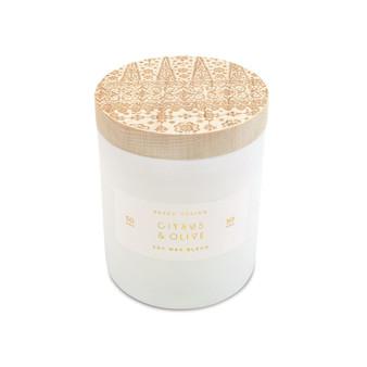 Small Print Block Candle - Citrus & Olive