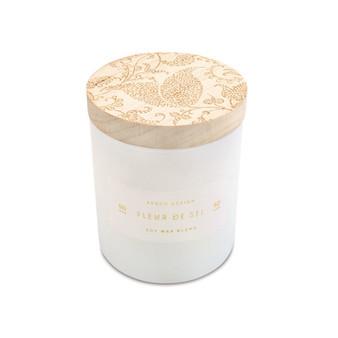 Small Print Block Candle - Fleur De Sel