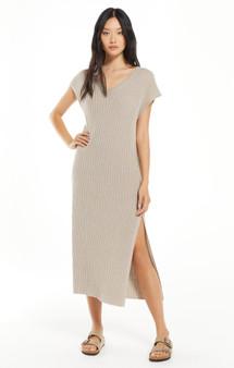 WFH Sweater Dress - Heather Latte
