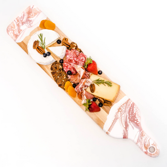 """Canadian Maple Resin Cheeseboards - Rose Gold - Baguette 5""""x24"""""""