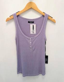 Sandro Henley Tank w/Pearl Buttons
