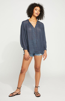 Felice Top - Washed Navy