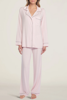 Luxe Milk Jersey Piped Pajama
