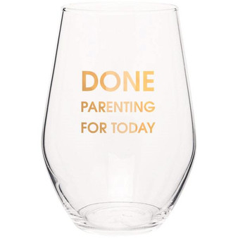 Wine Glass Done Parenting For Today