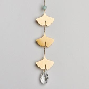 Suncatcher: Botanical Leaf/Amazonite