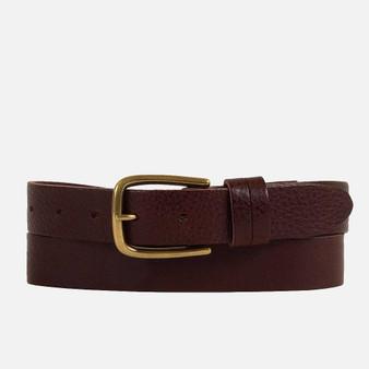 Carly - Elegant Belt W/Gold Buckle