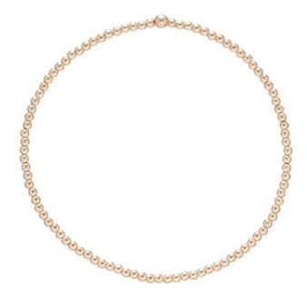 Classic Gold 2mm Bead Bracelet