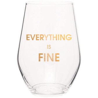 Wine Glass Everything Is Fine